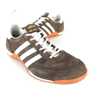 Adidas ADI Speed Brown Orange Suede Running Shoes